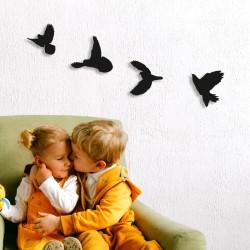 4 lü Uçan Kuşlar Dekoratif...